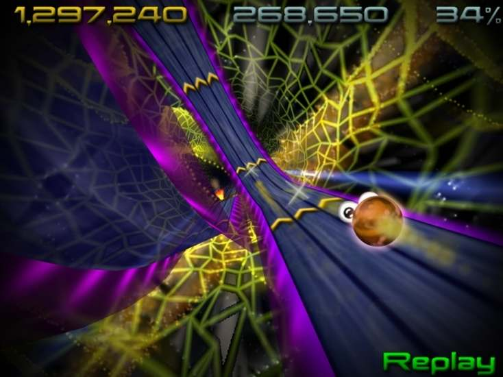 Race, jump and shoot through the quantum universe along super-fast 3D tracks.